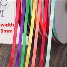Cotton 6mm 25 Yards 22M Silk Satin Organza Polyester Ribbon For DIY Wedding Party Decoration Sewing Webbing Crafts Gift Packing(China (Mainland))