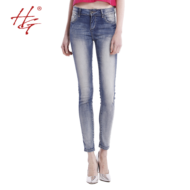 HG#S0902 2015 new arrival summer pants women fashionable pencil pants young lady skinny pants girls casual jeans(China (Mainland))