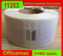 Rolls Dymo Compatible Labels 11353 1353 for LabelWriter Multipurpose Seiko labels 24 x 12mm 1000 Labels Per Roll