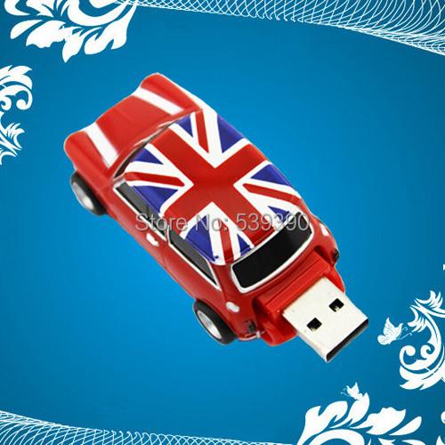 2014 New Crystal Car Shape 64GB usb flash drives USB 2.0 memory flash stick pendrive/christmas Gifts(China (Mainland))