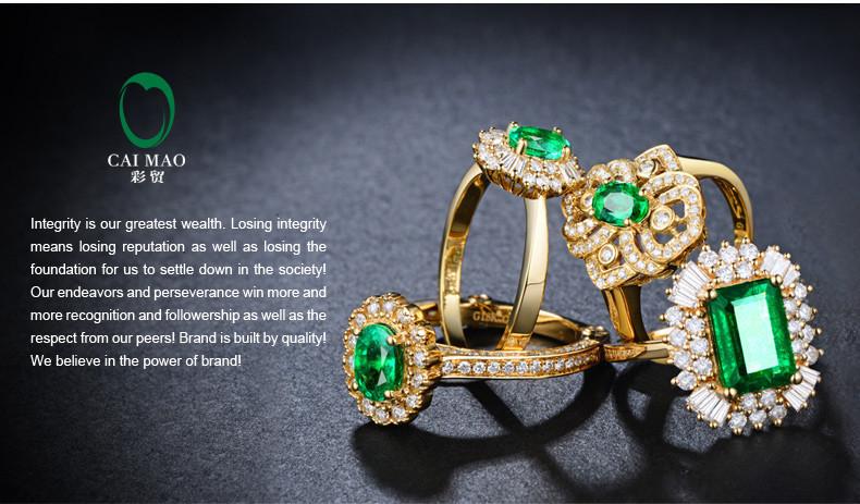caimao 2.18 ct природных Изумрудный 18kt/750 желтого золота 0,92 ct полной огранки Серьги ювелирных изделий драгоценных камней