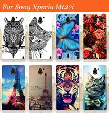 Buy Sony Xperia sola MT27i case cover,New arrival 14 patterns painting colored tiger owl rose hard pc case sony MT27i cover for $1.33 in AliExpress store