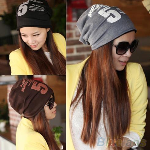 Unisex Women Men Note Five Hip-hop Baggy Beanie Hat Cool Dance Cotton Blend Cap 1T51(China (Mainland))