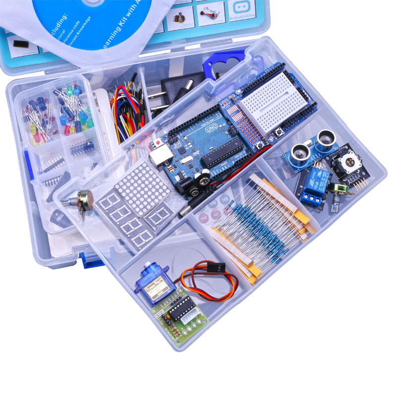 Upgraded Advanced Version Starter Kit learn Suite Kit LCD 1602 for Arduino UNO R3 With Tutorial(China (Mainland))
