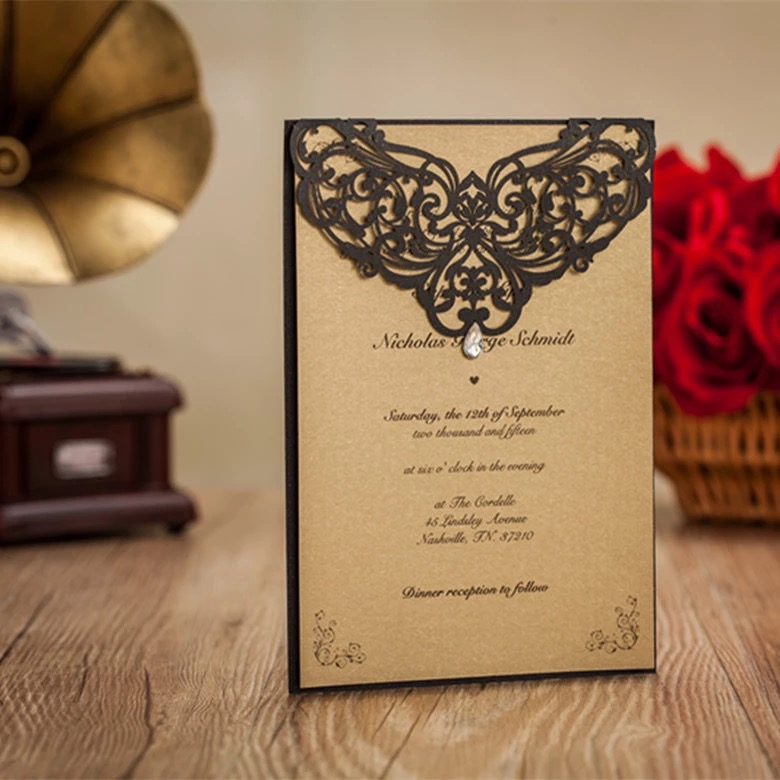 Cheap Laser Cut Wedding Invitations is the best ideas you have to choose for invitation example