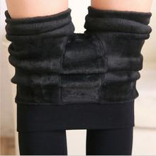 8 Colors S-XL Winter Plus Cashmere Leggings Woman Casual Warm Plus Size Faux Velvet Knitted Thick Slim Leggings Super Elastic(China (Mainland))