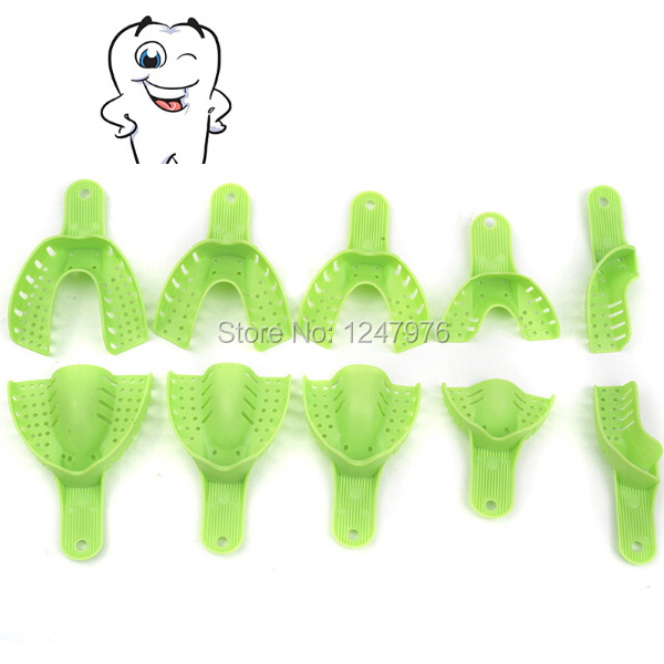 Hot Sale New Plastic Autoclavable Central 10pcs/Bag Dental Supply Impression Trays Denture Tray As Seen Tv Products(China (Mainland))