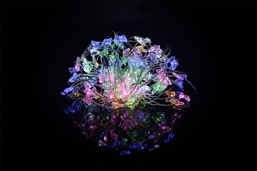 10M 100 LED Copper Wire String Lights Colorful Butterfly DC 12V LED Starry Outdorr Christmas Light Decoration(China (Mainland))