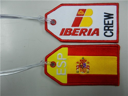 LT-1073 Crew TagLuggage TagEmbroidery Iberia Crew Tag YSG-1301072 front