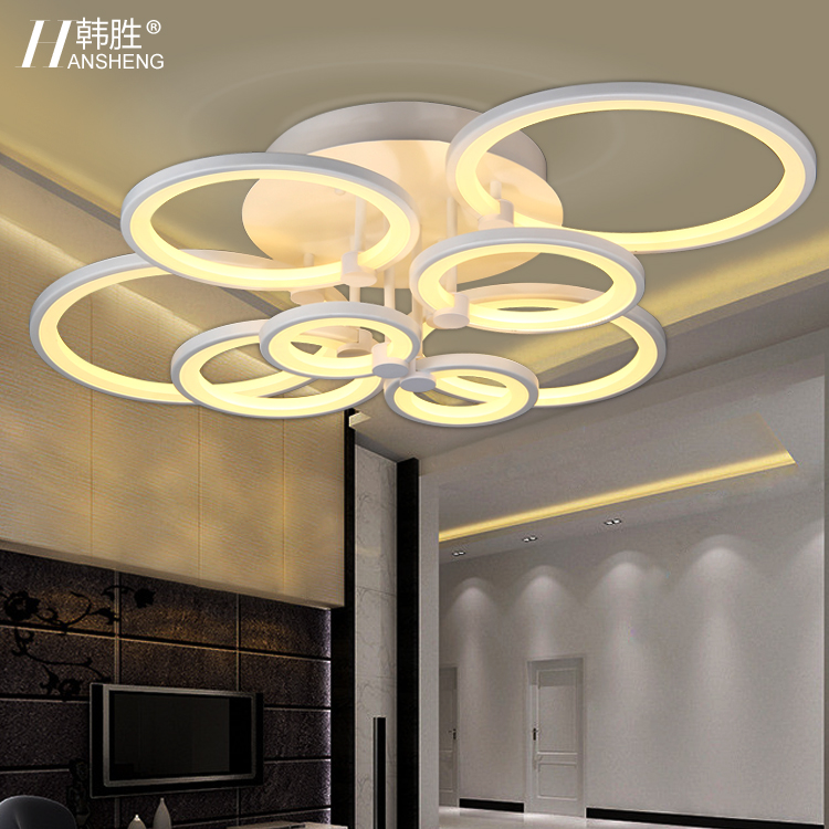 Led ceiling light brief modern crystal lamp bedroom fashion personality lamps(China (Mainland))