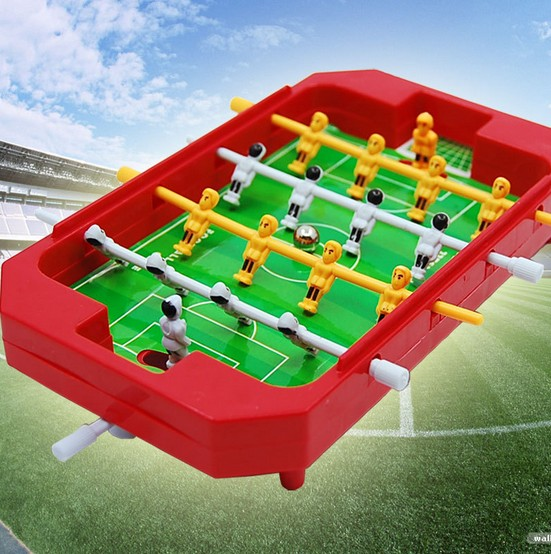 Mini kids tabletop football machines 4 pole desktop toys games Soccer Table Football Ball for Home entertainment party(China (Mainland))