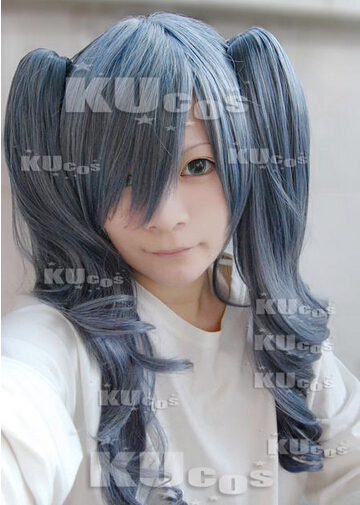 new arrival synthetic Wigs Anime Black Butler Ciel Phantomhive peruca long wavy Halloween wig Hair Hallowmas pelucas Cosplay<br><br>Aliexpress