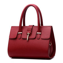 Wine Red PU Women Handbag Casual Office Lady Tote Shoulder Bag Crossboday Toggle Zipper(China (Mainland))