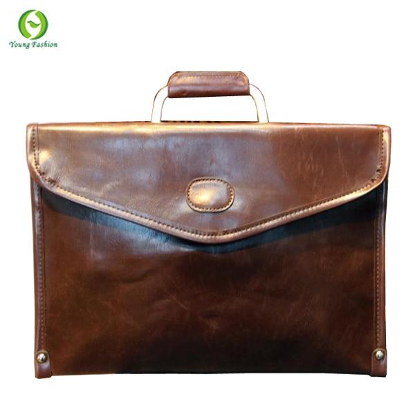 Young fashion new 2015 business men handbag pu leather messenger bags men's briefcase envelope men's Shoulder Bags 2 colors(China (Mainland))