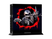 Skelett mit Mittelfinger PS4 Skin – enthält 1 X PS4 Konsolen-Skin Set + 2 X Controller-Skin Sets
