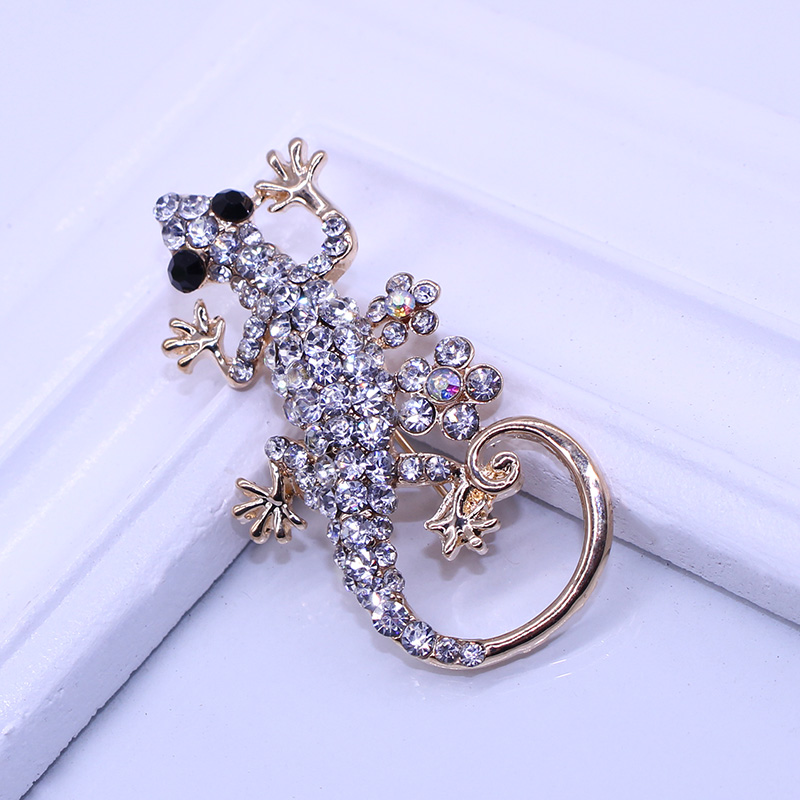 Fashion Rhinestone Animal Brooch Pin Inlay Crystal Lizard Brooch For Women Charms Jewelry broches Wholesale Free Shipping(China (Mainland))