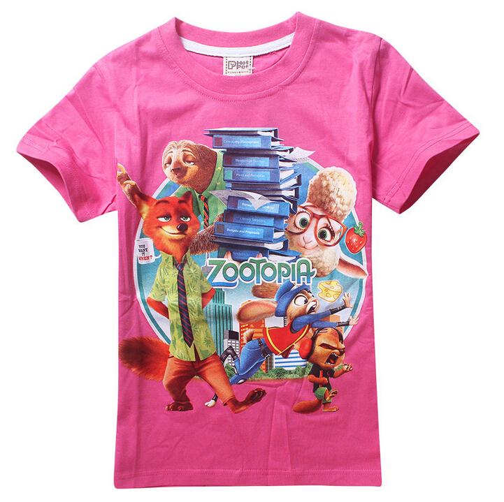 Скидки на Горячая! 2016 девушки парни футболки zootopia дети футболка мультфильм ник уайлд мальчик одежды джуди hopps детская одежда оптовая продажа
