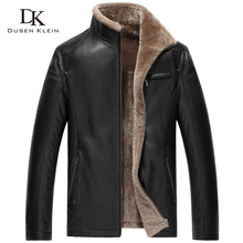 New 2016 Brand Leather jacket men Wool Liner and Collar Luxury male Winter leather Coat sheepskin 14Z6603(China (Mainland))