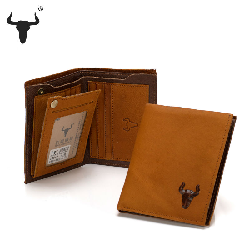 Vintage Retro Genuine Leather Wallets Cowhide Men Short Wallet Billfold Ultra soft Purse For Men's Man Husband Card Photo Holder(China (Mainland))
