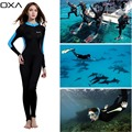 OXA Sunscreen One piece Wetsuit Women Long Sleeve Anti UV Wet Suits Diving Suit for Snorkeling