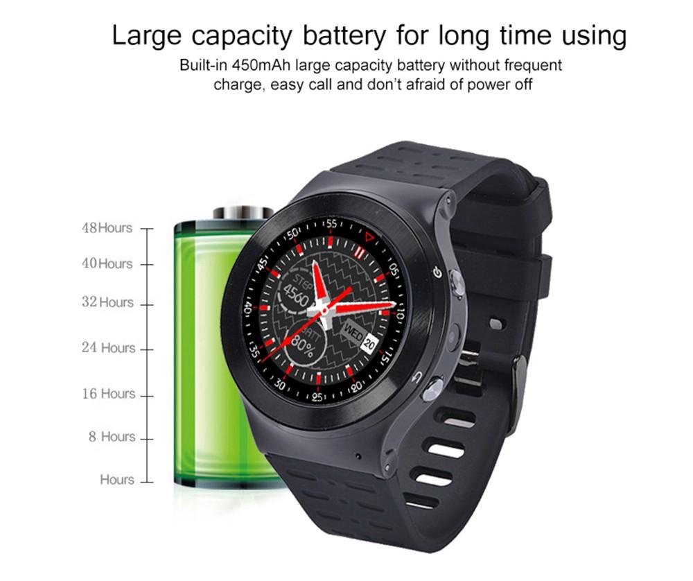 ถูก ใหม่เดิมZGPAX S99 GSM 3กรัมQuad Core Android 5.1สมาร์ทนาฬิกาที่มี5.0 MPกล้องGPS WiFiบลูทูธV4.0 PedometerหัวใจRate.
