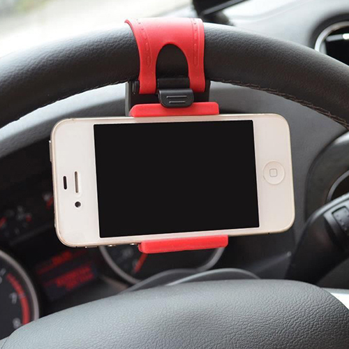 Hot Most Popular Car Steering Wheel Mount Holder Rubber Band For iPhone iPod MP4 GPS Accessories 1NCO 6VBL 7C12(China (Mainland))