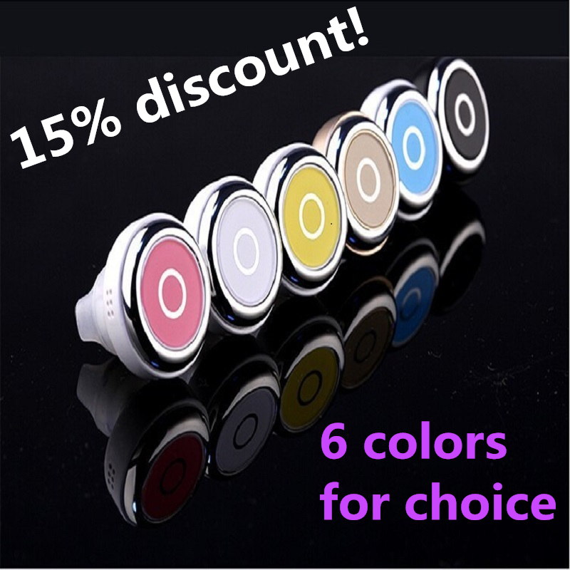 15% discount ! bluetooth headset headphone earpiece earphone 6 color for choice(China (Mainland))