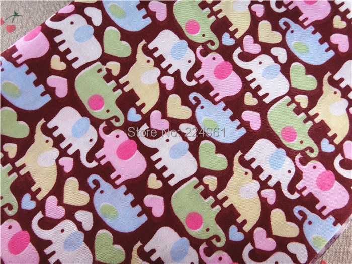 Free Shipping 50cm*150cm Elephant 100% Cotton Fabric for Sewing Patchwork Bedding Fabric DIY Baby Cloth Textiles 14121609(China (Mainland))