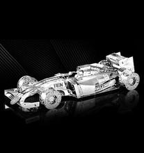 F1 Racing 3D Головоломки Для Мальчика Из Нержавеющей Стали DIY Сборки Модели Автомобиля Обучения Образовательные Игрушки Детей Игрушки Brinquedos