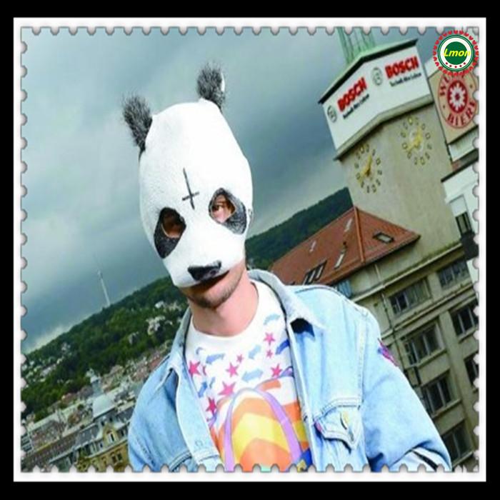 Free shipping Halloween Party Cosplay panda face head mask Cro Panda Mask Newly Style Party Fancy Dress Novelty Latex cool mask(China (Mainland))