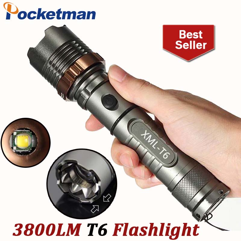 3800lm Torch CREE T6 5 modes LED Tactical Flashlight Torch Waterproof Hunting Light Lantern zaklamp taschenlampe torcia ZK93(China (Mainland))