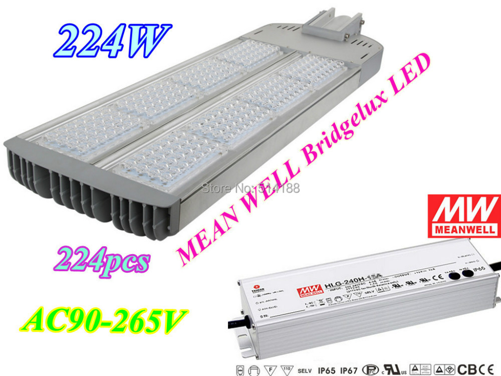 High Power 224W LED Street Lights MEAN WELL Bridgelux Chip 5 Years Warranty AC90-265V Outdoor Lighting Road Lamp - Brightron Factory store