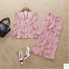 new arrival 100% pure silk female home sleep set with heavy silk long-sleeve two sets of pajamas noble fashion nightgowns-b61