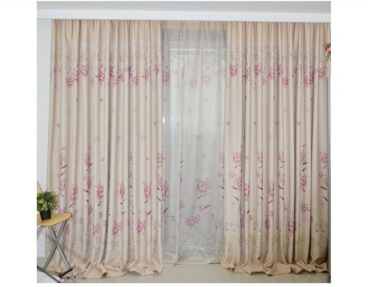 Free Shipping -Fashion flower curtain window screening finished product quality sheer curtain panel kid bed room(China (Mainland))