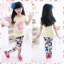 2015 Children s Clothing Girl Pants New Arrive Printing Flower Girls Leggings Toddler Classic Legging 2