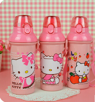Hello kitty bottle kettle 480ml eco-friendly travel water unbreakable free shipping(China (Mainland))