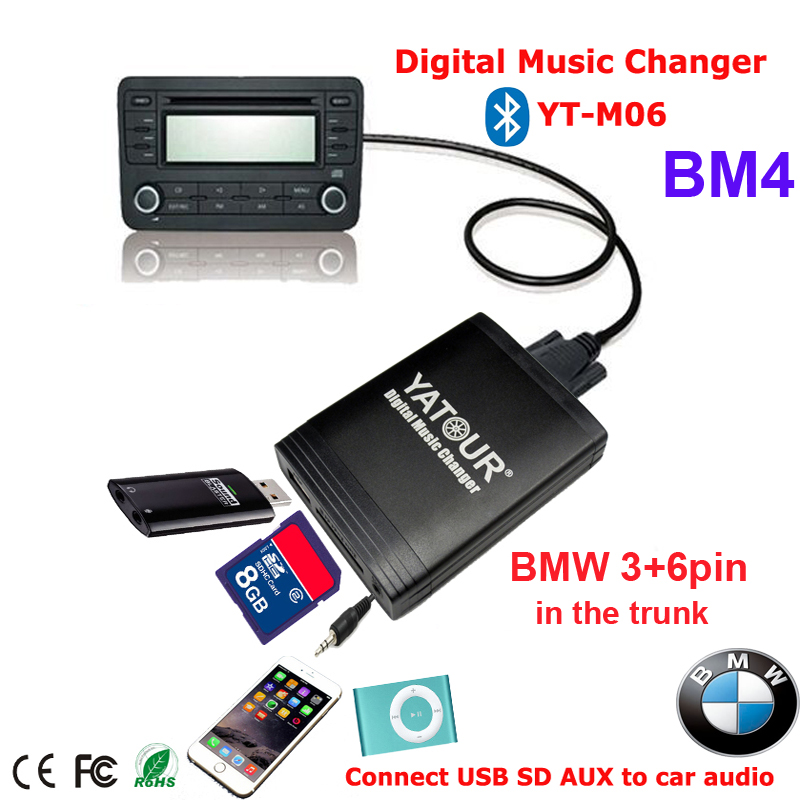Yatour Car MP3 integration kit for BMW CD changer connection(China (Mainland))
