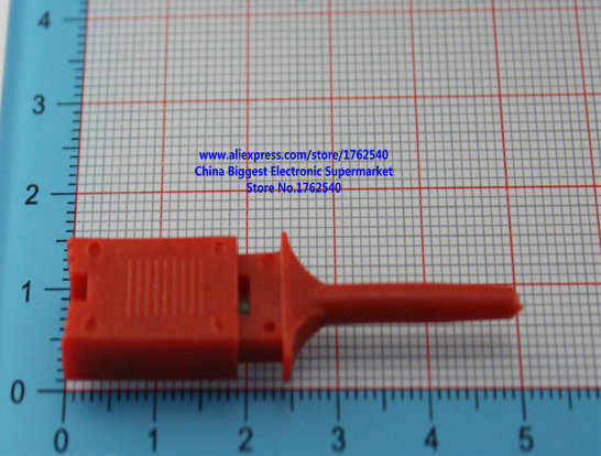 Red Logic analyzer clip test clip Wire hook Test hook(China (Mainland))