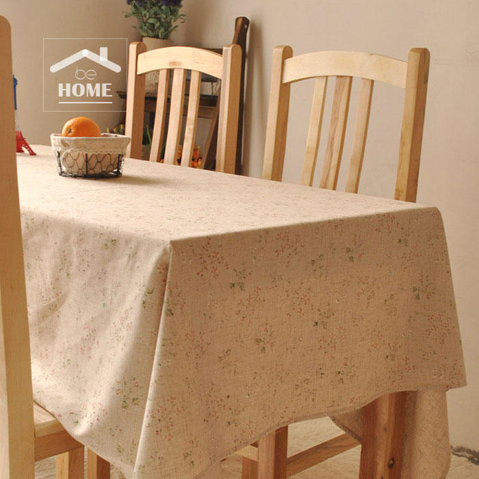 be Home High quality Japan style Flower Cotton and Linen Vintage tablecloth table cover table cloth(China (Mainland))