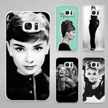Buy Audrey Hepburn Hard White Coque Shell Case Cover Phone Cases for Samsung Galaxy S4 S5 S6 S7 Edge Plus for $1.49 in AliExpress store