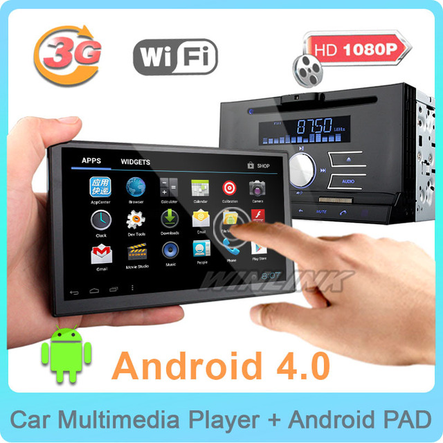 2015 Android 4.0 Car DVD Player Universal 2 Din Car Detachable Tablet Pad Android GPS Navigation Radio Car Video Player Headunit