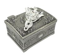 OnSello White Gold Plated Arwen Evenstar Necklace for Lovers with Exquisite Jewelry Box Lotr