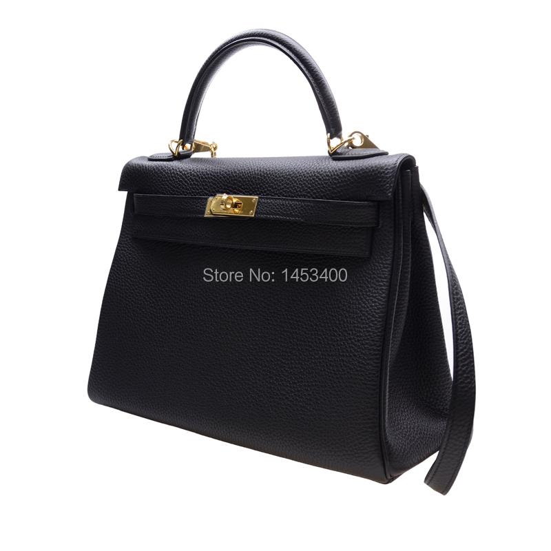 bolsas femininas 2014100% Black TOGO handmade  Genuine leather bag  high quality  handdbags<br><br>Aliexpress