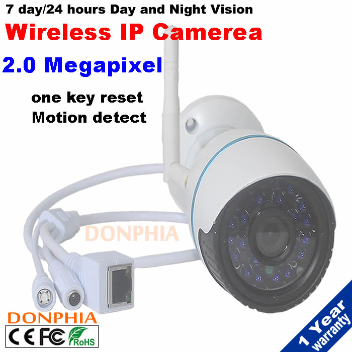 Hot Selling 1080P Network IR Securiy CCTV WIFI IP camera Support ONVIF Outdoor WiFi Wireless IP Security Bullet Cam waterproof(China (Mainland))