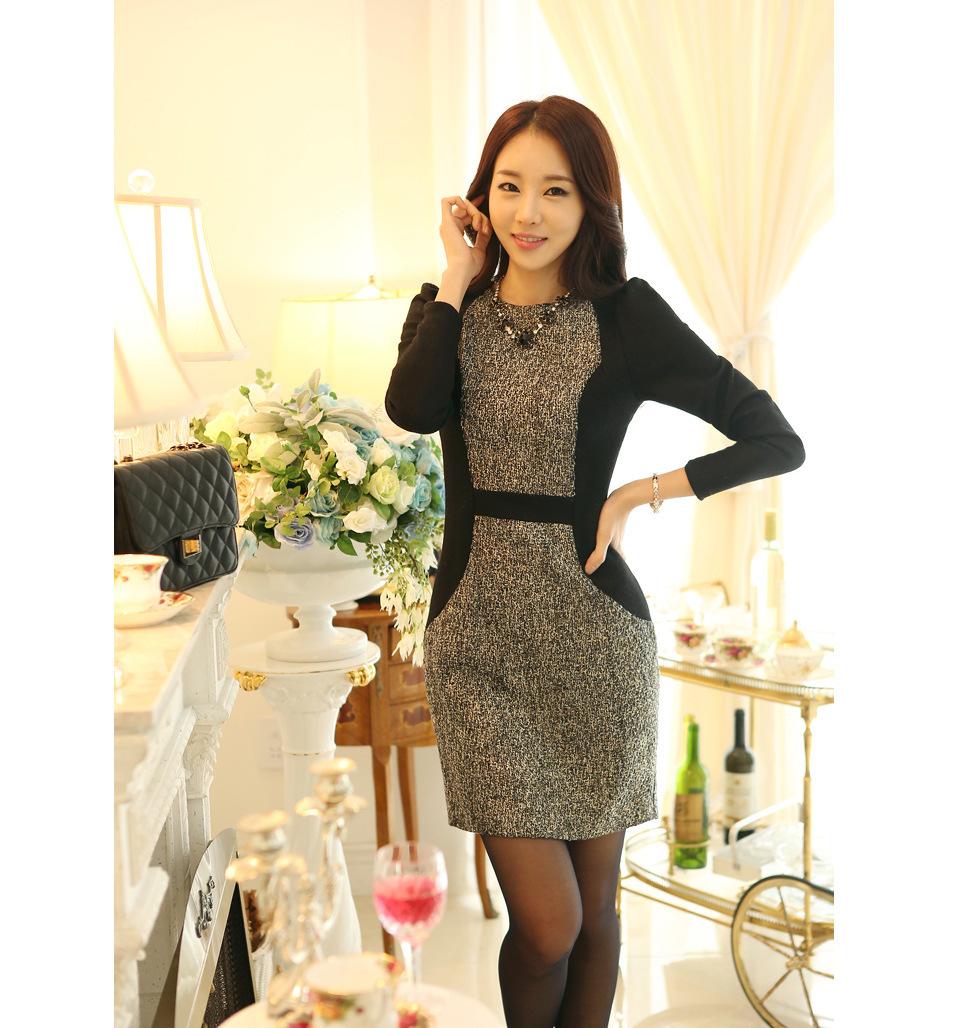 women work wear 2015 office dress polyester women business