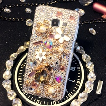 Buy Samsung Galaxy A3 A5 A7 A8 A9 E5 E7 J1 J2 J3 J5 J7 20150 2016 Handmade Luxury Rhinestone phone case Crystal cover Bear Style for $11.99 in AliExpress store