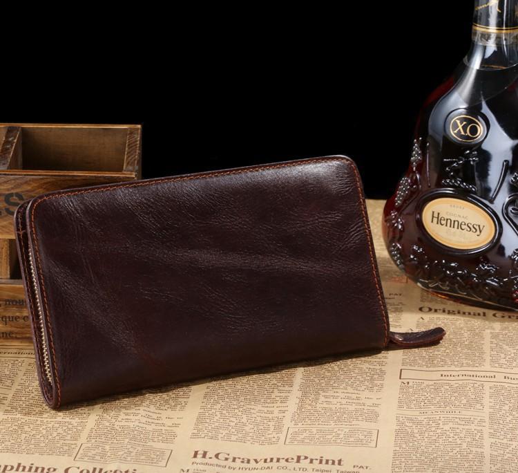 Здесь можно купить  8022C 2014 New Classic Coffee Vintage Real Leather Fashion Functional Organizer Men