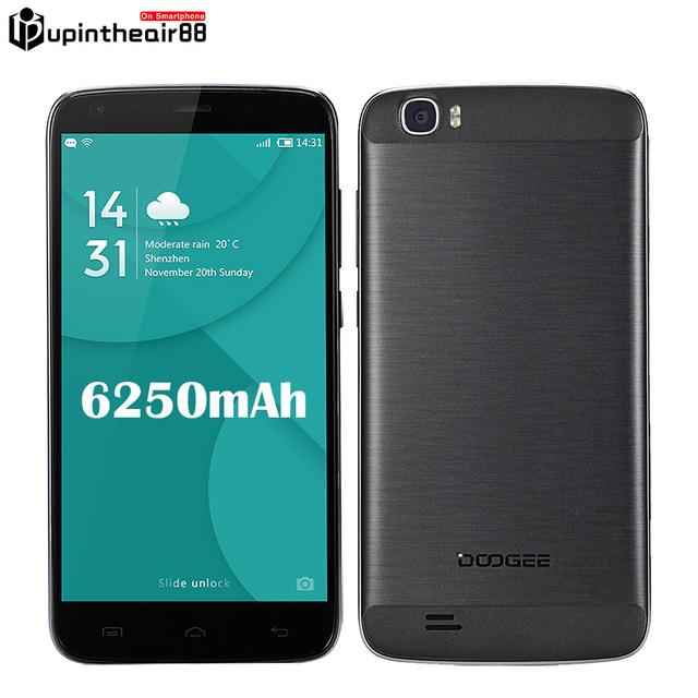 """Оригинал DOOGEE T6 Pro 6250 Мобильный Телефон 4 Г LTE 5.5 """"Android 6.0 MT6753 Окта основные 3 ГБ RAM + 32 ГБ ROM 13MP 1280*720 OTG Поддержка"""