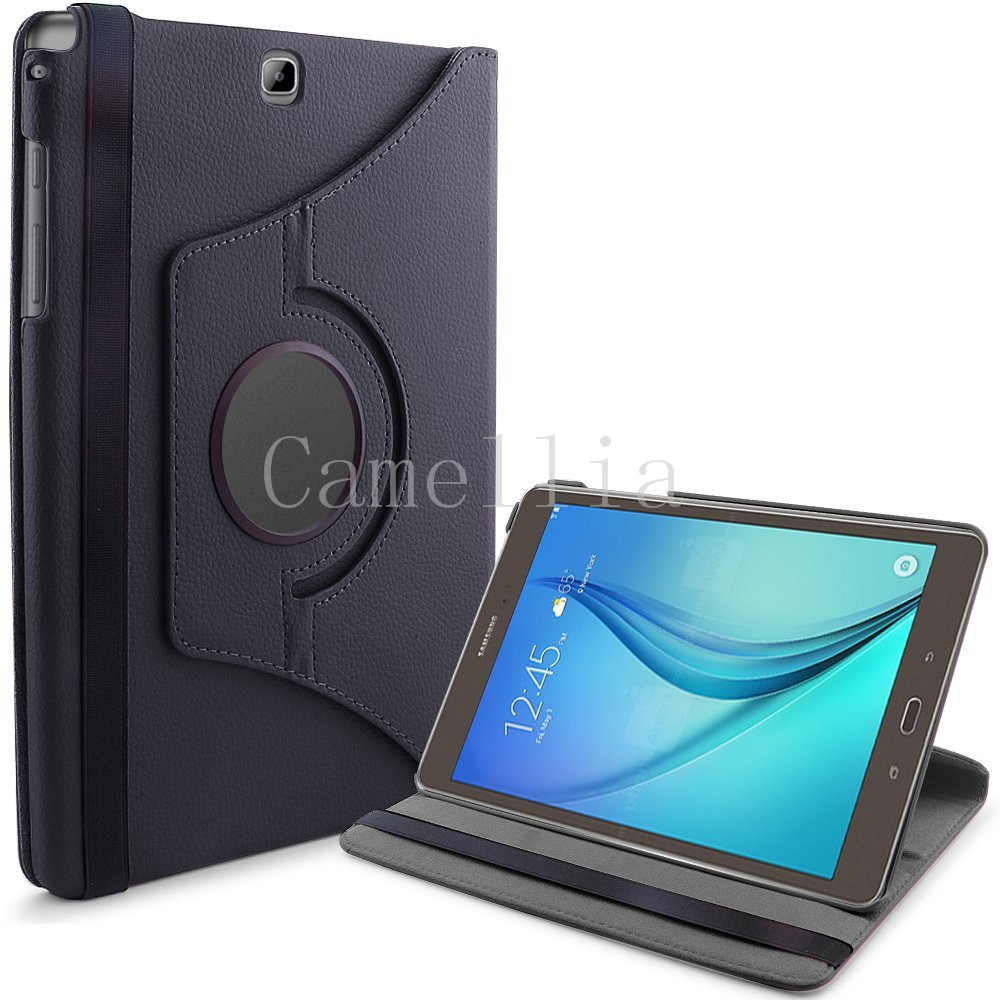 For Samsung Galaxy Tab A 9 7 PU Leather 360 Rotating Stand Smart Case Cover for