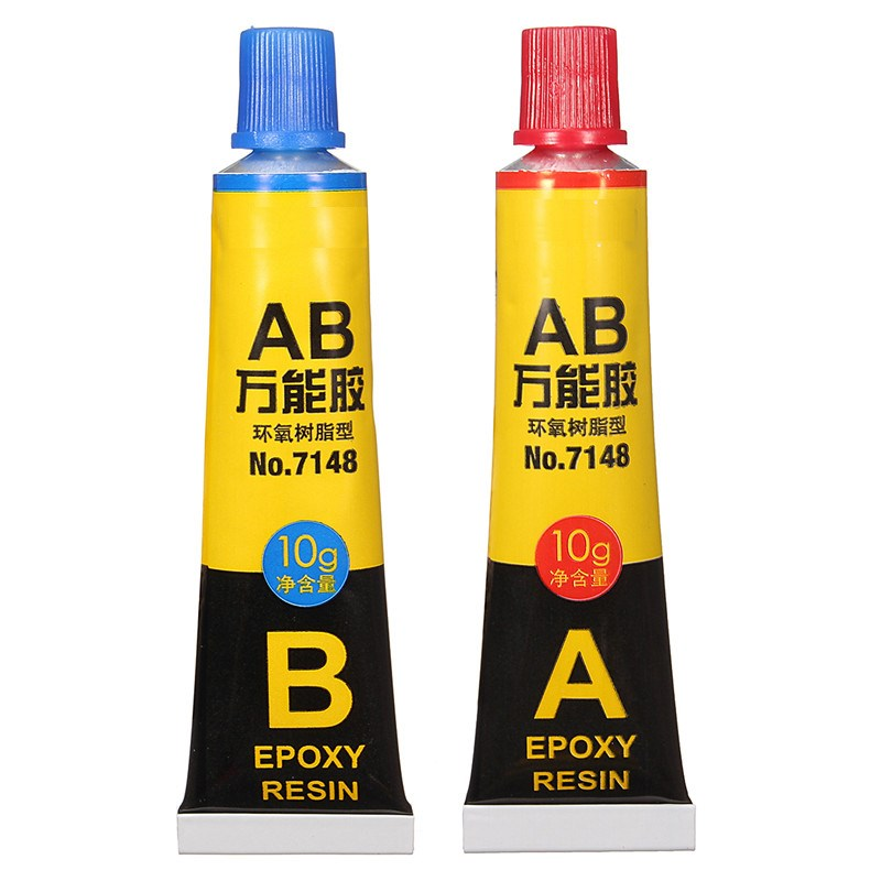 2 pcs/set Epoxy Resin Contact Adhesive Super Glue For Glass Metal Ceramic Stationery Office Material School Supplies 6703(China (Mainland))